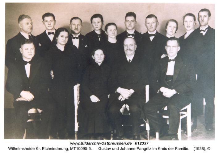 Wilhelmsheide, Gustav und Johanne Pangritz im Kreis der Familie