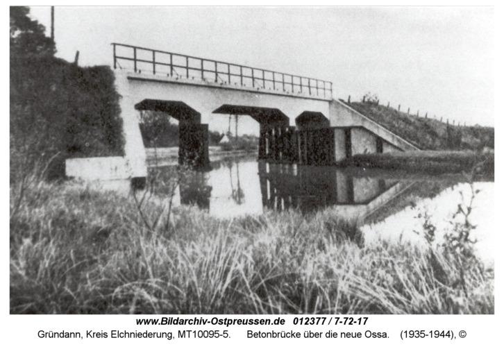 Gründann, Betonbrücke über die neue Ossa