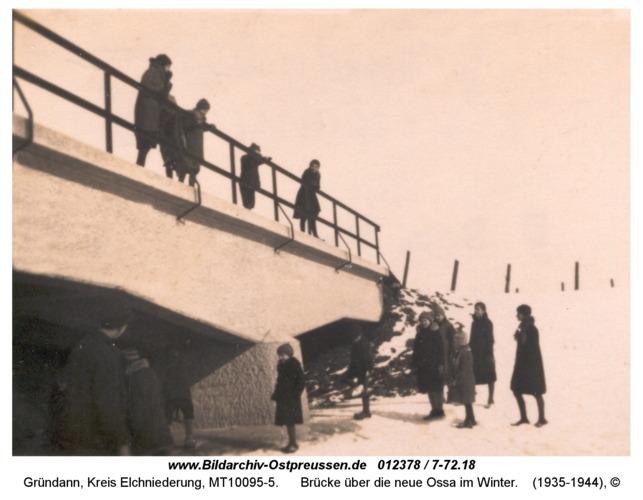 Gründann, Brücke über die neue Ossa im Winter
