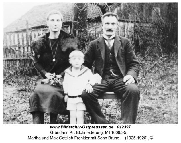 Gründann, Martha und Max Gottlieb Frenkler mit Sohn Bruno