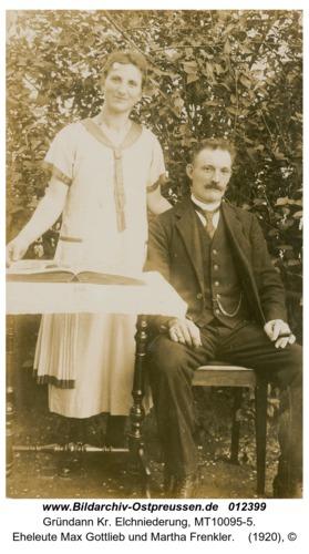 Gründann, Eheleute Max Gottlieb und Martha Frenkler