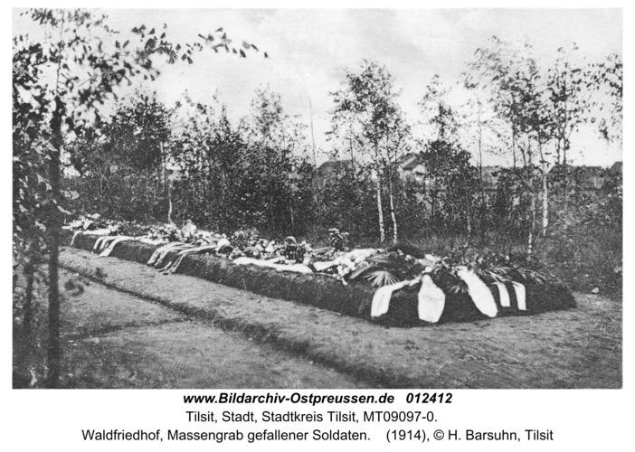 Tilsit, Waldfriedhof, Massengrab gefallener Soldaten