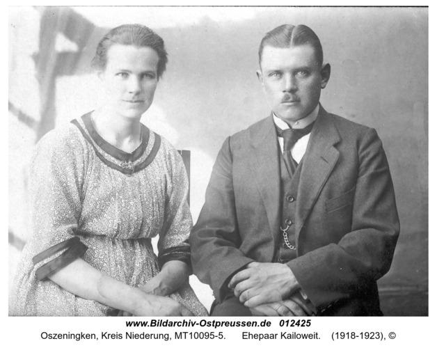 Oszeningken, Ehepaar Kailoweit