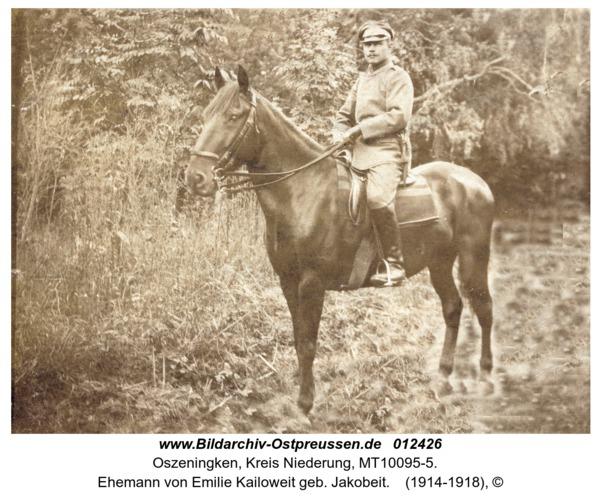 Oszeningken, Ehemann von Emilie Kailoweit geb. Jakobeit