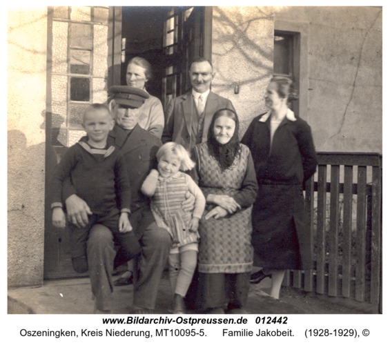 Oszeningken, Familie Jakobeit