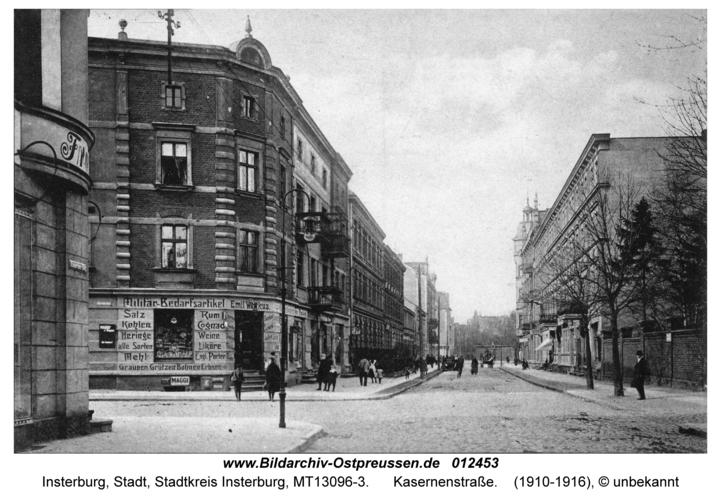 Insterburg, Kasernenstraße