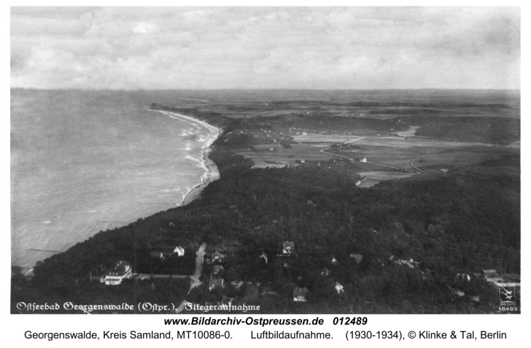 Georgenswalde, Luftbildaufnahme