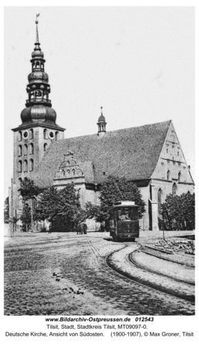 Tilsit, Deutsche Kirche, Ansicht von Südosten