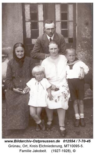Grünau, Familie Jakobeit