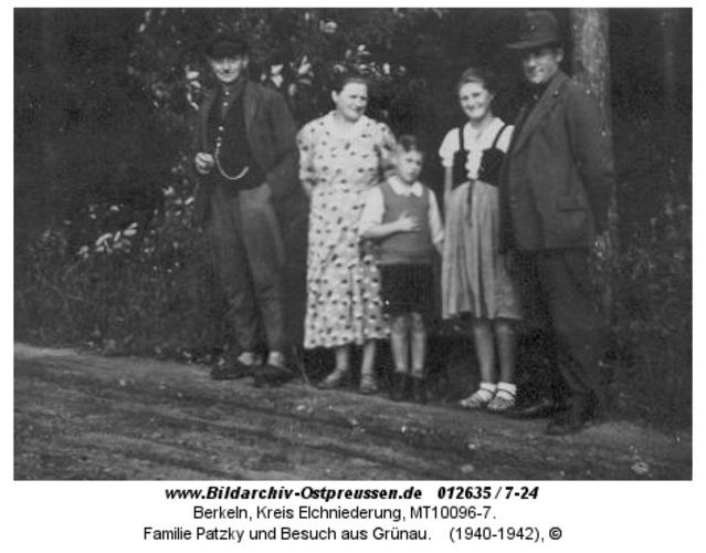 Berkeln, Familie Patzky und Besuch aus Grünau