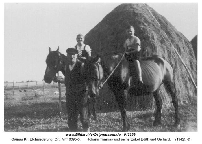 Grünau, Johann Timmas und seine Enkel Edith und Gerhard