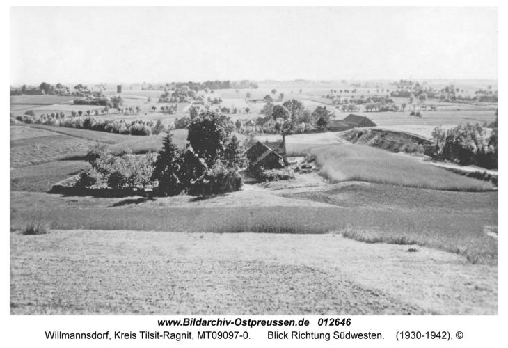 Willmannsdorf, Blick Richtung Südwesten