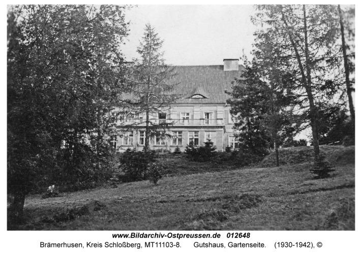Brämerhusen, Gutshaus, Gartenseite