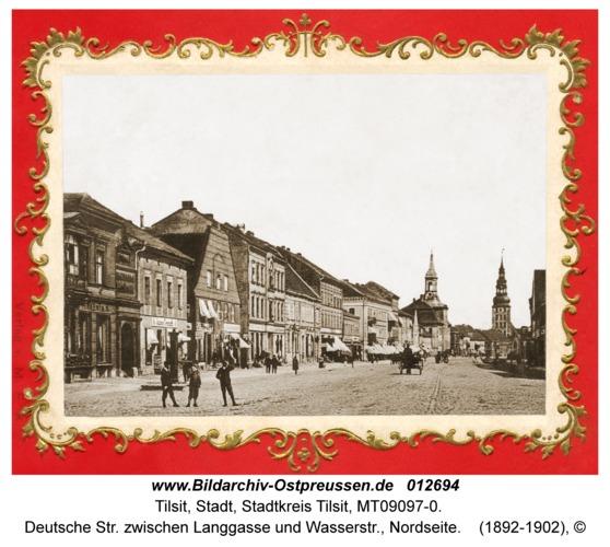 Tilsit, Deutsche Str. zwischen Langgasse und Wasserstr., Nordseite