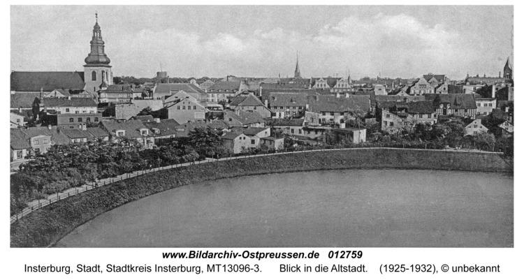 Insterburg, Blick in die Altstadt