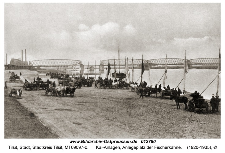 Tilsit, Kai-Anlagen, Anlegeplatz der Fischerkähne