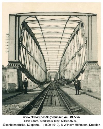Tilsit, Eisenbahnbrücke, Südportal