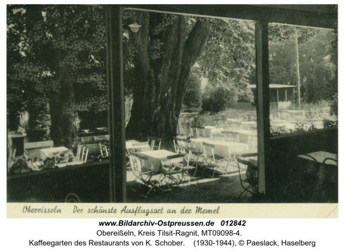 Obereißeln, Kaffeegarten des Restaurants von K. Schober