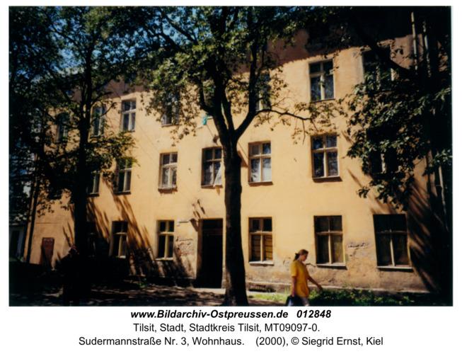 Tilsit, Sudermannstraße Nr. 3, Wohnhaus