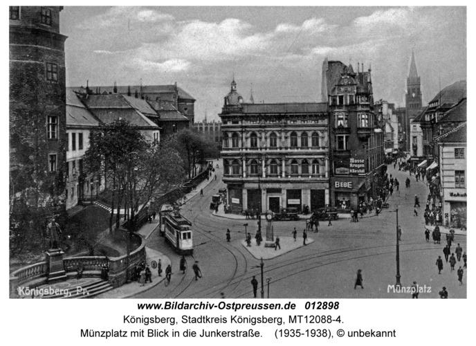 Königsberg, Münzplatz mit Blick in die Junkerstraße