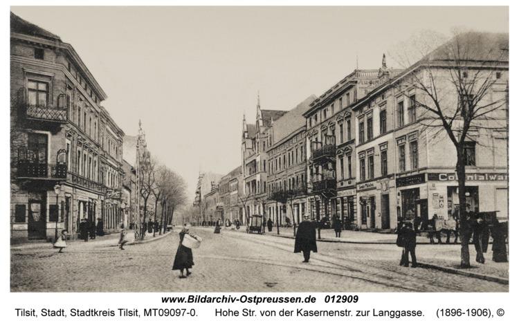 Tilsit, Hohe Str. von der Kasernenstr. zur Langgasse