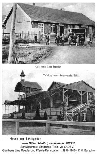 Schwedenfeld, Gasthaus Lina Raeder und Pferde-Rennbahn