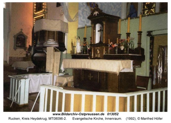 Rucken Kr. Heydekrug, Evangelische Kirche, Innenraum