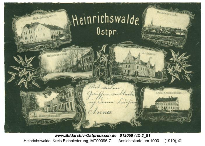 Heinrichswalde, Ansichtskarte um 1900