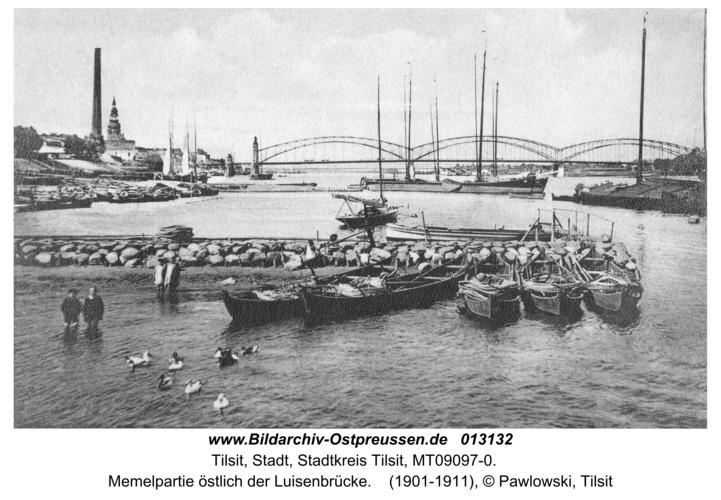 Tilsit, Memelpartie östlich der Luisenbrücke