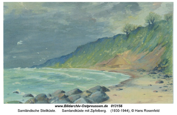 Samlandküste mit Zipfelberg