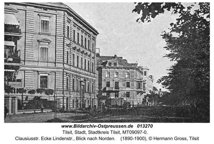 Tilsit, Clausiusstr. Ecke Lindenstr., Blick nach Norden