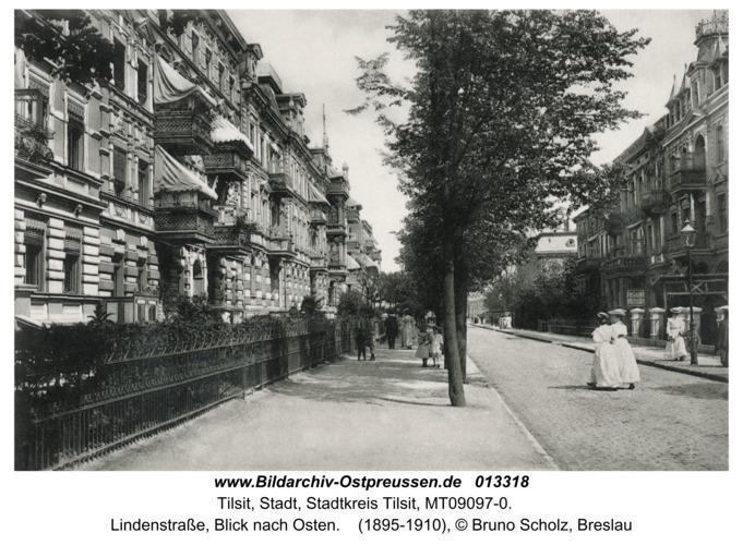 Tilsit, Lindenstraße, Blick nach Osten