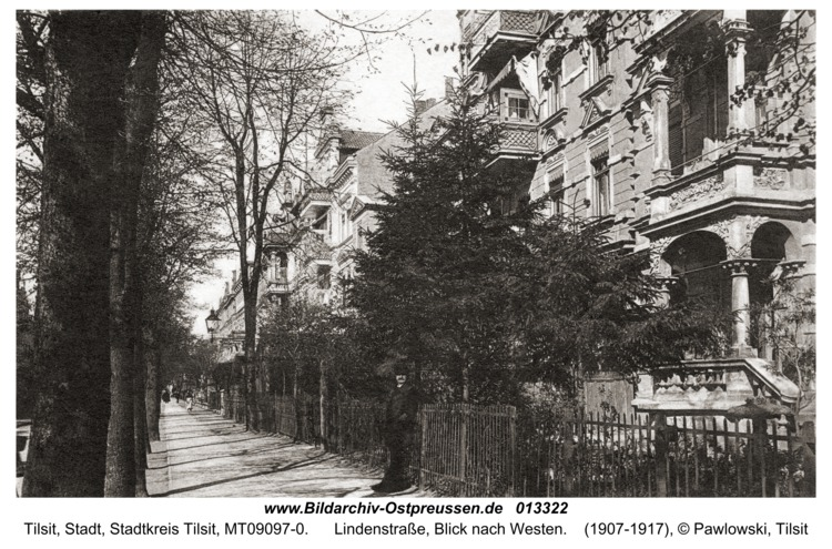 Tilsit, Lindenstraße, Blick nach Westen