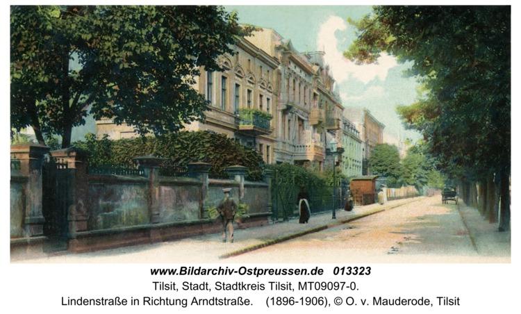 Tilsit, Lindenstraße in Richtung Arndtstraße