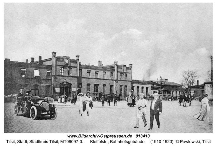 Tilsit, Kleffelstr., Bahnhofsgebäude