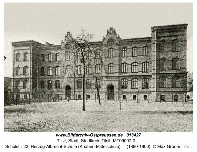 Tilsit, Schulstr. 22, Herzog-Albrecht-Schule (Knaben-Mittelschule)