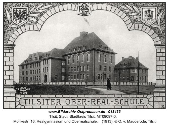 Tilsit, Moltkestr. 16, Realgymnasium und Oberrealschule