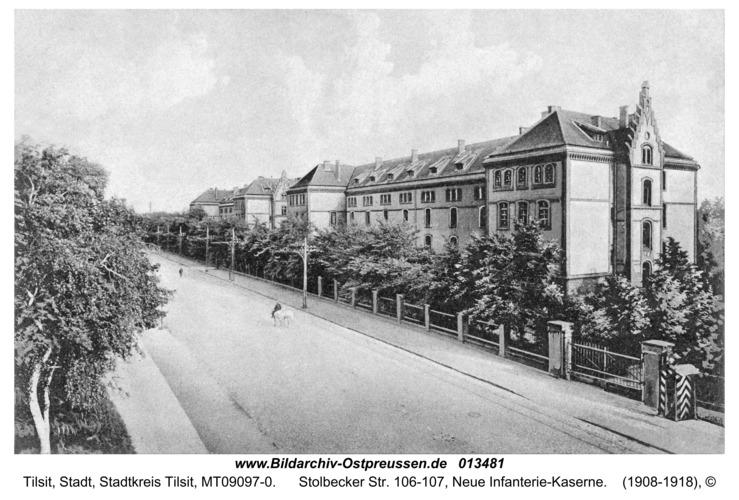 Tilsit, Stolbecker Str. 106-107, Neue Infanterie-Kaserne