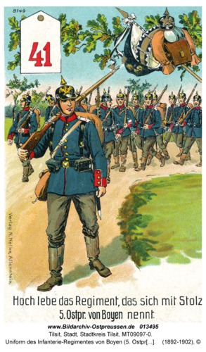 Tilsit, Uniform des Infanterie-Regimentes von Boyen (5. Ostpr.) Nr. 41