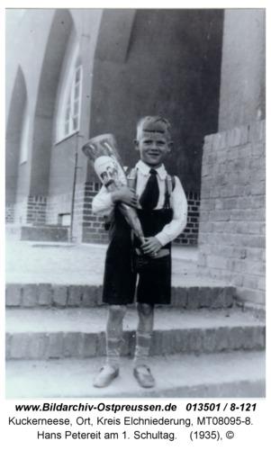 Kuckerneese, Hans Petereit am 1. Schultag