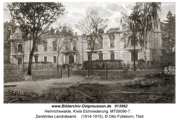 Heinrichswalde, Zerstörtes Landratsamt