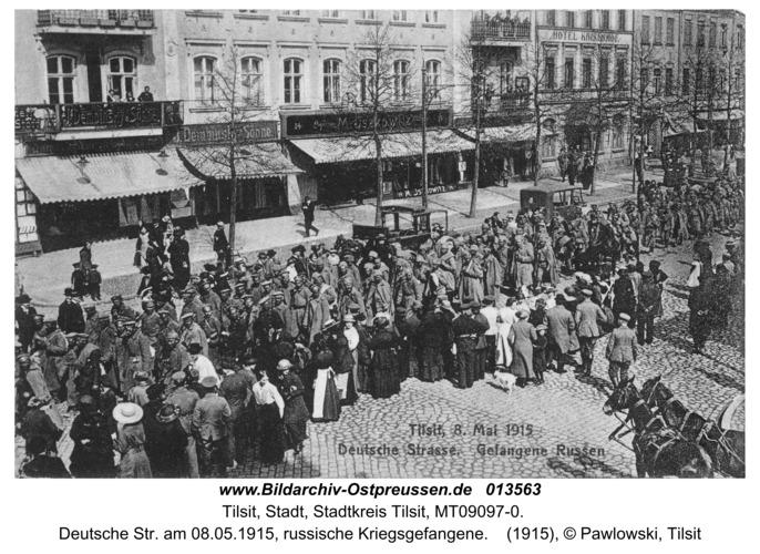 Tilsit, Deutsche Str. am 08.05.1915, russische Kriegsgefangene