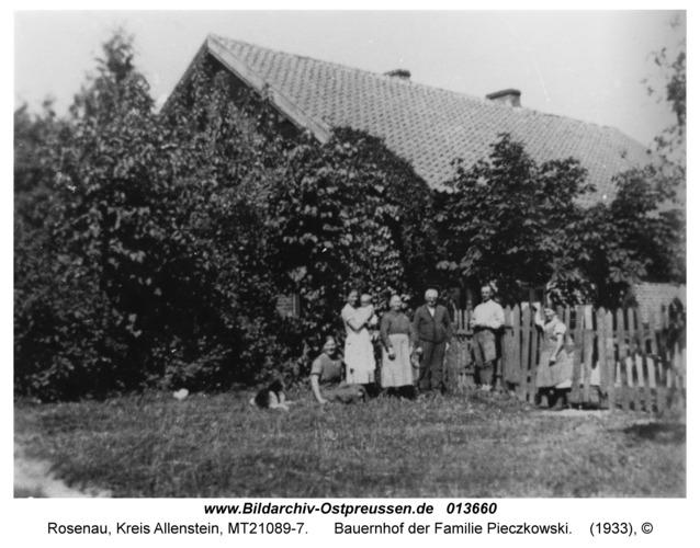 Rosenau Kr. Allenstein, Bauernhof der Familie Pieczkowski