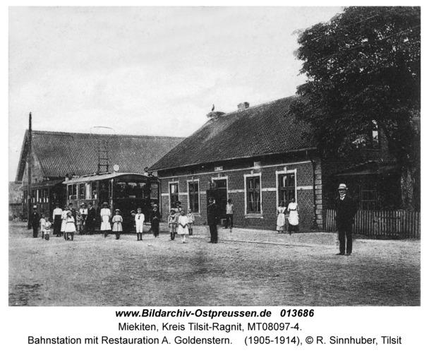 Miekiten fr. Mikieten, Bahnstation mit Restauration A. Goldenstern