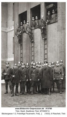 Tilsit, Bäckergasse 1-2, Freiwillige Feuerwehr, Freiwilliger Führerkursus