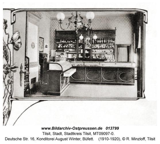 Tilsit, Deutsche Str. 16, Konditorei August Winter, Büfett