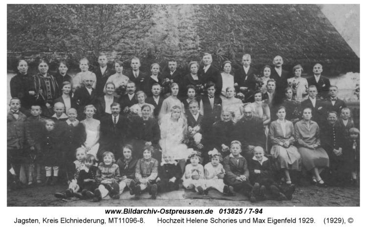 Jagsten, Hochzeit Helene Schories und Max Eigenfeld 1929