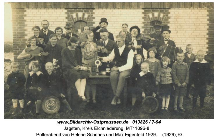 Jagsten, Polterabend von Helene Schories und Max Eigenfeld 1929