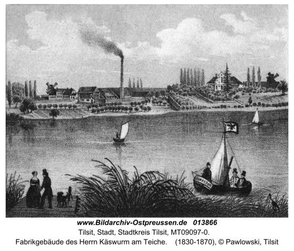 Tilsit, Fabrikgebäude des Herrn Käswurm am Teiche