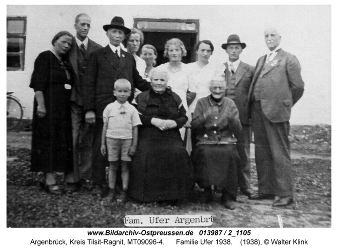 Argenbrück, Familie Ufer 1938